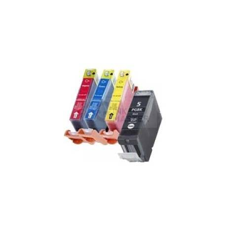 4-Pack PGI-5 and CLI-8 Compatible Inkjet for Canon iX5000, MX700, iP3300