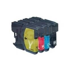 4 Pack Compatible Brother LC-565 & LC-567 Ink Cartridge Set (1BK,1C,1M.1Y)