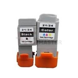 Compatible Canon BCI-21C Colour and BCI-21BK Black Ink Cartridge