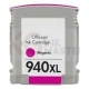 HP 940XL Compatible Magenta High Yield Inkjet Cartridge C4908AA - 1,400 Pages