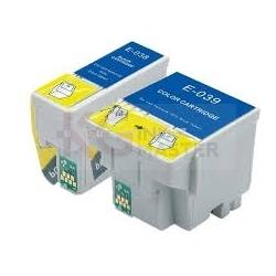 2 Pack Epson T038 T039 Compatible Ink Cartridge [1BK,1CL]