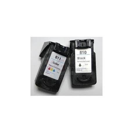 Compatible Canon PG-810 Black + CL-811 Colour (Combo) Cartridge